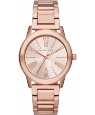 Michael Kors MK3491 Ladies Hartman rose gouden stalen armband horloge