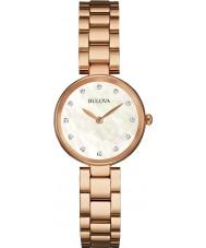 Bulova 97S111 Ladies diamant rose goud vergulde armband horloge
