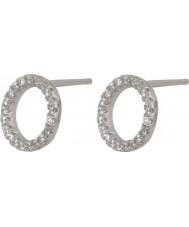 FROST by NOA 345047 Dames zilveren cirkel-vormig oor pin oorbellen