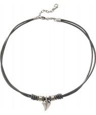 Fossil JF85832040 Heren casual zwart lederen halsband