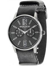 Police 14766JSU-61 Mens Esquire x grijs lederen band horloge