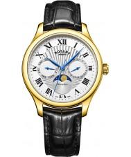 Rotary GS05066-01 Mens uurwerken maanstand zwarte chronograaf