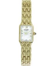 Rotary LB00739-41 Ladies wit gouden horloge