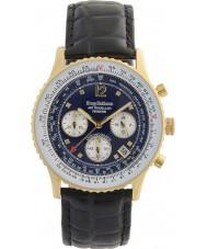 Krug-Baumen 400208DS Mens air traveler diamond horloge