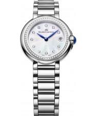 Maurice Lacroix FA1003-SD502-170 Ladies fiaba ronde zilveren horloge met diamanten