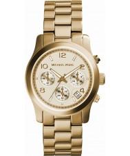 Michael Kors MK5055 Ladies landingsbaan gouden chronograaf horloge