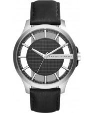 Armani Exchange AX2186 Men's jurk zwart lederen band horloge