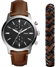 Fossil FS5394SET Mens stadsman horloge