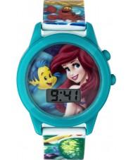 Disney Princess PN1165 Meisjes ariel de kleine zeemeermin zingen horloge met veelkleurige plastic bandje