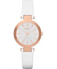 DKNY NY2405 Ladies Stanhope witte lederen band horloge