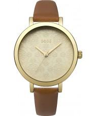 Oasis B1545 Dames bruin lederen band horloge