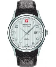 Swiss Military 6-4286-04-001 Mens navalus bruine lederen band horloge