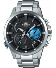Casio EQB-600D-1A2ER Mens gebouw op zonne-energie zilveren stalen armband horloge