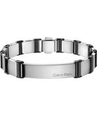 Calvin Klein KJ2FBB280100 Mens stimuleren zilveren verstelbare armband