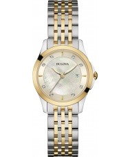 Bulova 98S148 Ladies diamant two tone stalen armband horloge