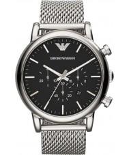Emporio Armani AR1808 Heren Classic chronograaf zilveren mesh armband horloge