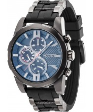 Police 14541JSB-02PA Mens matchcord zwarte platsic riem horloge
