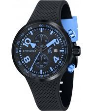 Spinnaker SP-5029-04 Mens dynamische zwarte geïntegreerde siliconen band horloge