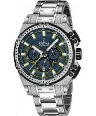 Festina F16968-3 Mens chrono bike zilver staal chronograafhorloge