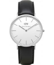 Daniel Wellington DW00100020 Heren Classic 40mm Sheffield zilveren horloge