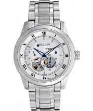Bulova 96A118 Mens automatische zilver stalen horloge