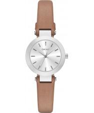 DKNY NY2406 Ladies Stanhope bruine lederen band horloge