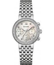 Bulova 96W204 Ladies diamanten zilveren stalen armband chronograaf