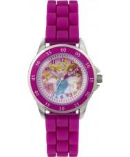 Disney Princess PN1078 Meisjes prinses tijd leraar horloge met roze siliconen band