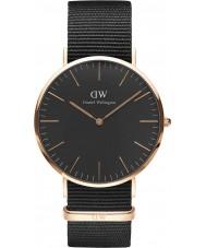 Daniel Wellington DW00100148 Klassiek zwart Cornwall 40mm horloge