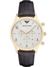 Emporio Armani AR1892 Heren Classic chronograaf zwart lederen band horloge