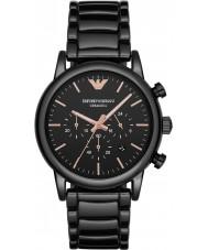 Emporio Armani AR1509 Mens jurk zwart chronograaf horloge