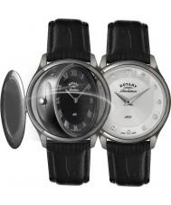 Rotary LS02970-10-07 Ladies openbaring horloge