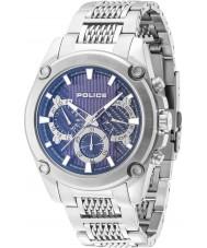 Police 14543JS-03M Mens mesh up zilveren stalen armband horloge