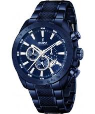 Festina F16887-1 Mens prestige Blue Steel chronograaf horloge