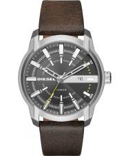 Diesel DZ1782 Mens armbar donker bruin lederen band horloge