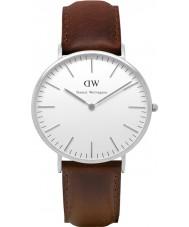 Daniel Wellington DW00100023 Heren Classic 40mm Bristol zilveren horloge