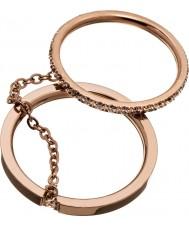 Edblad 41530046-XL Dames glanzende rose gouden ringen - maat S (xl)