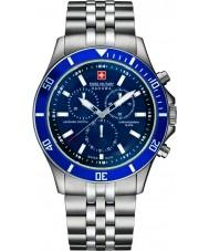 Swiss Military 6-5183-7-04-003 Mens vlaggenschip chrono zilveren horloge