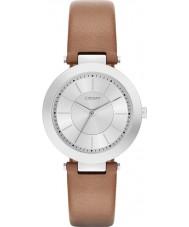 DKNY NY2293 Ladies Stanhope 2,0 mat bruin lederen band horloge