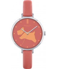 Radley RY2361 Dames gaan walkies papaya lederen band horloge