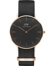 Daniel Wellington DW00100150 Klassiek zwart Cornwall 36mm horloge