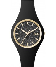 Ice-Watch 001349 Ladies ice-glitter zwarte siliconen band kleine horloge