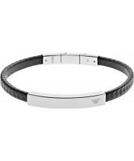 Emporio Armani EGS2063040 Mens handtekening zwarte koolstof stalen armband
