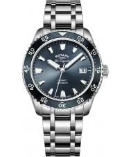 Rotary GB90168-05 Mens uurwerken legacy zilveren stalen armband horloge