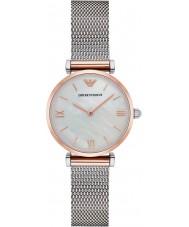 Emporio Armani AR2067 Dames klassieke zilveren stalen armband horloge