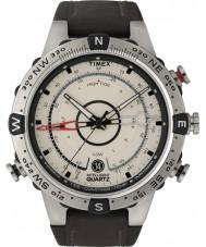 Timex Intelligent Quartz T2N721 Mens natuurlijke bruine tij temp kompas horloge