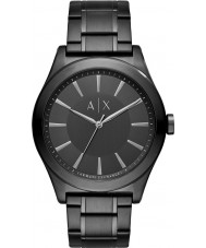 Armani Exchange AX2322 Men's jurk zwart stalen armband horloge