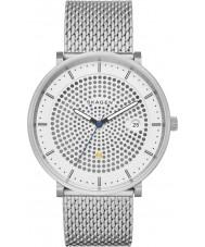 Skagen SKW6278 Mens Hald zilveren stalen gaas armband horloge