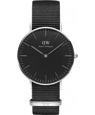 Daniel Wellington DW00100151 Klassiek zwart Cornwall 36mm horloge