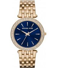 Michael Kors MK3406 Ladies Darci marineblauwe vergulde horloge
